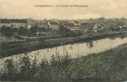 """CPA FRANCE 89 """"Commissey, le canal de Bourgogne"""""""