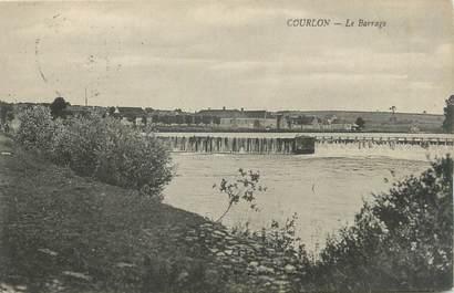 "CPA FRANCE 89 ""Courlon, la barrage"""