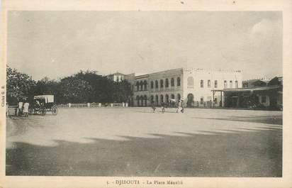 """CPA DJIBOUTI """"La Place Ménélik"""""""