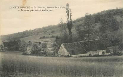 """CPA FRANCE 89 """"La Celle Saint Cyr, la fontaine"""""""