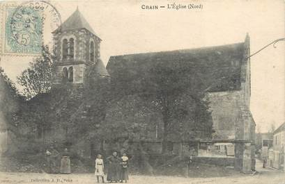 "CPA FRANCE 89 ""Crain, l'église"""