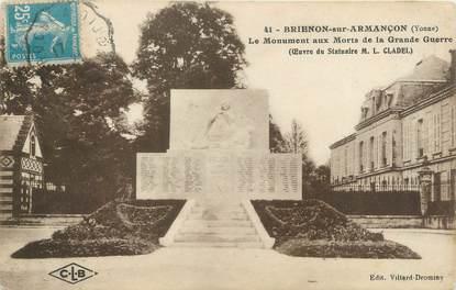 """CPA FRANCE 89 """"Brienon sur Armaçon, le monument aux morts"""""""