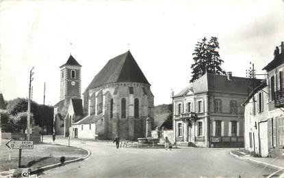 """CPSM FRANCE 89 """"Bussy en Othe, l'église et la mairie"""""""