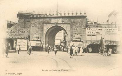 "CPA TUNISIE ""Tunis, Porte de France"""