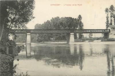 """CPA FRANCE 89 """"Appoigny, l'Yonne et le pont"""""""