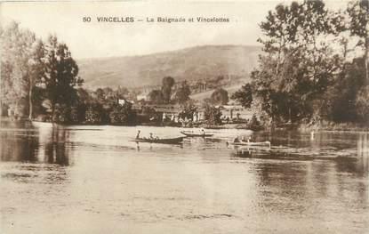 """CPA FRANCE 89 """"Vincelles, la Baignade et Vincelottes"""""""