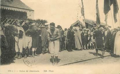 """CPA TUNISIE """"Scène de Aïssaouia"""""""