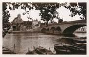 """89 Yonne CPSM FRANCE 89 """"Villeneuve sur Yonne, le pont et l'église"""""""