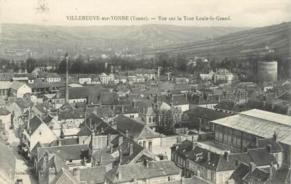 """CPA FRANCE 89 """"Villeneuve sur Yonne, vue sur la tour Louis le Grand"""""""