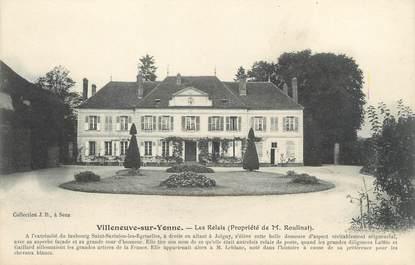 """CPA FRANCE 89 """"Villeneuve sur Yonne, les relais"""""""