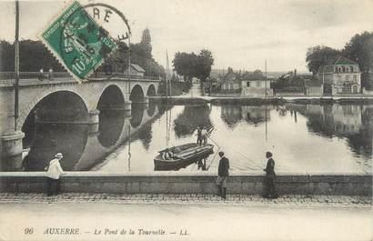 """CPA FRANCE 89 """"Auxerre, le pont de la Tournelle"""""""