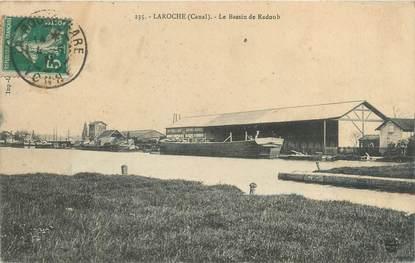 """CPA FRANCE 89 """"Laroche, le bassin de Radoub"""" / PENICHE"""