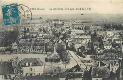 """CPA FRANCE 89 """"Sens, vue perspective sur la partie Nord de la ville"""""""