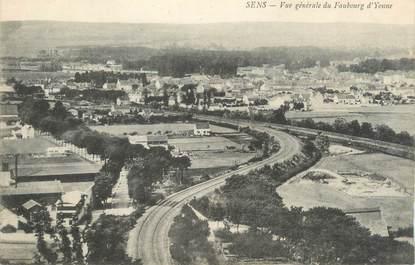 """CPA FRANCE 89 """"Sens, vue générale du faubourg d'Yonne"""""""
