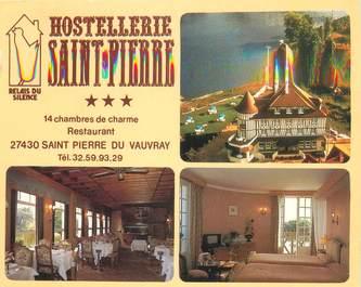 """CPSM FRANCE 27 """"Saint Pierre du Vauvray, hostellerie Saint Pierre"""""""