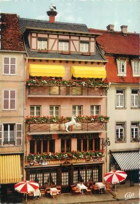 "CPSM FRANCE 67 ""Molsheim, hôtel restaurant au cheval Blanc"""
