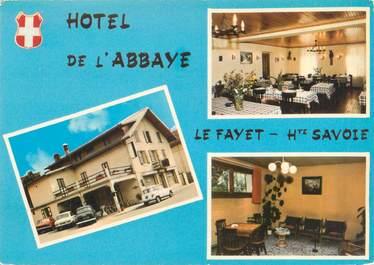 "CPSM FRANCE 74 ""L'Abbaye Le Fayet, hôtel de l'Abbaye"""