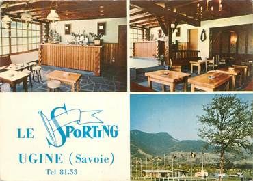 "CPSM FRANCE 73 ""Ugine, le sporting Camping Caravaning"""