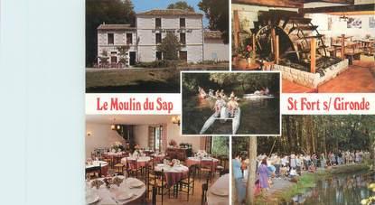 """CPSM FRANCE 17 """"Saint Fort sur Gironde, le moulin du SAP"""""""