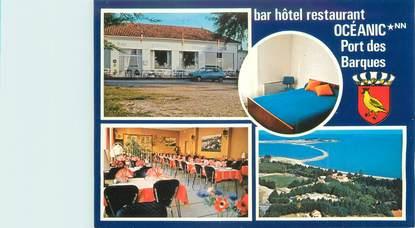 "CPSM FRANCE 17 ""Port des Barques, bar hôtel restaurant Océanic"""