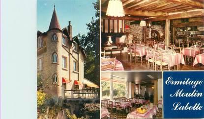 "CPSM FRANCE 08 ""Haybes sur Meuse, hôtel restaurant Ermitage Moulin Labotte"""