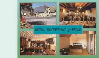 """CPSM FRANCE 15 """"Omps, hôtel restaurant maison Capelle"""""""