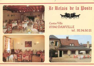 """CPSM FRANCE 27 """"Damville, le relais de la poste"""""""