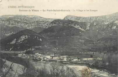"""CPA FRANCE 38 """"Le port Saint Gervais, le village et les Ecouges"""""""
