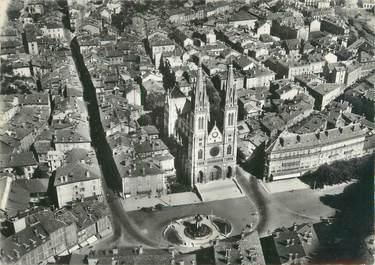 """CPSM FRANCE 38 """"Voiron Chartreuse, vue aérienne sur l'église Saint Bruno"""""""