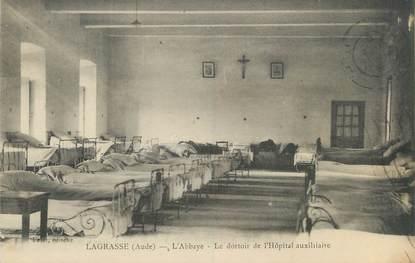 """CPA FRANCE 11 """"Lagrasse, l'abbaye, le dortoir de l'hôpital auxiliaire"""""""
