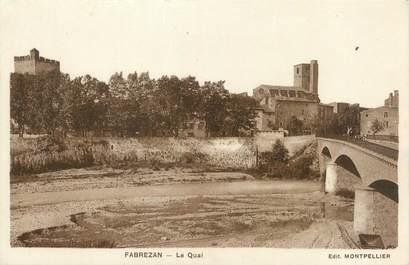 "CPA FRANCE 11 ""Fabrezan, la quai"""