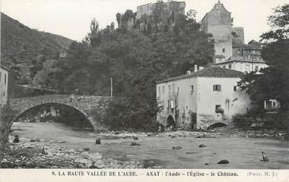 "CPA FRANCE 11 ""Axat, l'église, le château"""