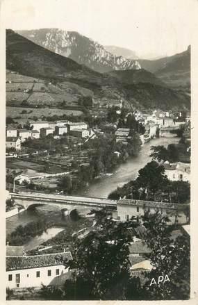 """CPSM FRANCE 11 """"Quillan, vue générale, les ponts sur l'Aude"""""""