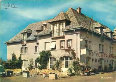 """CPSM FRANCE 15 """"Salers, hôtel restaurant des Remparts"""""""