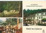"""63 Puy De DÔme CPSM FRANCE 63 """"Châteauneuf Les Bains, hôtel du Château"""""""