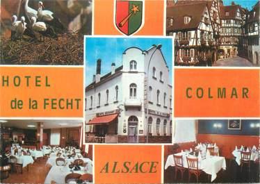 """CPSM FRANCE 68 """"Colmar, hôtel restaurant de la Fecht"""""""