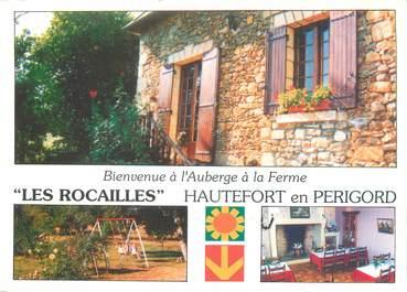 """CPSM FRANCE 24 """"Hautefort, auberge à la ferme Les Rocailles"""""""