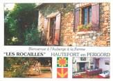 """24 Dordogne CPSM FRANCE 24 """"Hautefort, auberge à la ferme Les Rocailles"""""""