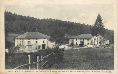 """CPA FRANCE 69 """"La Ville, les environs, la Bûche, les hôtels"""""""