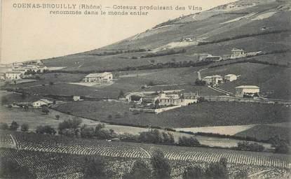 """CPA FRANCE 69 """"Odenas Brouilly, coteaux produisant des vins renommés"""""""