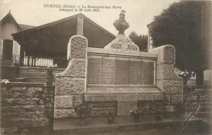 """CPA FRANCE 69 """"Ouroux, le monument aux morts"""""""