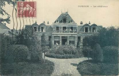 """CPA FRANCE 69 """"Ouroux, le château"""""""