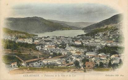 """CPA FRANCE 88 """"Gérardmer, panorama de la ville et du Lac"""""""