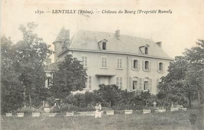 "CPA FRANCE 69 ""Lentilly, château du Bourg"""