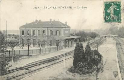 "CPA FRANCE 69 ""Lyon Saint Clair, la gare"""