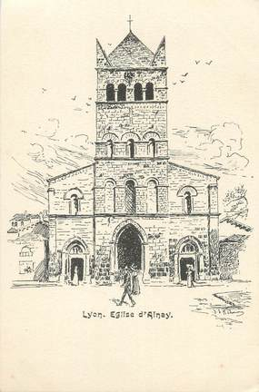 "CPA FRANCE 69 ""Lyon, église d'Ainay"""