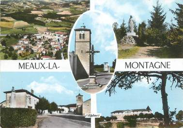 """CPSM FRANCE 69 """"Meaux La Montagne"""""""
