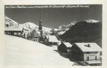 """CPSM FRANCE 73 """"Hauteluce, vue générale col du Joly et Mont Blanc"""""""