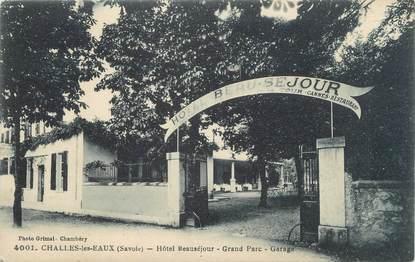 """CPA FRANCE 73 """"Challes Les Eaux, hôtel Beauséjour"""""""