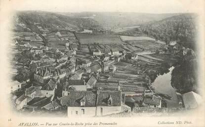 """CPA FRANCE 89 """"Avallon, vue sur Cousin la Roche"""""""